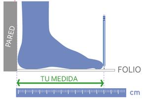 Medir longitud pie